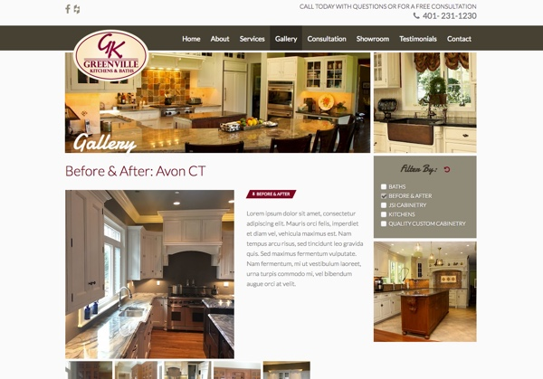 Greenville Kitchens and Baths website design